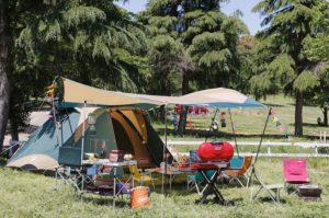 キャンプ風景写真